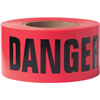 "Barricade Tape, 2 mil, ""Danger Do Not Enter"", Red, 8/Case"