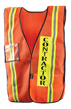 Mesh Contractor Vest - Click Image to Close