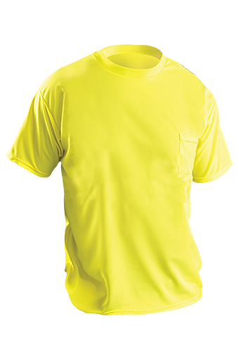 Wicking Birdseye Non-Ansi Pocket T-Shirt