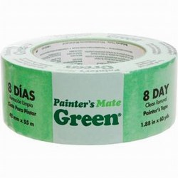 "Painter\'s Mate Green Masking Tape, 1.88"" x 60 yds Case of 12 rolls"