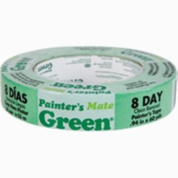 "Painter\'s Mate Green Masking Tape, 0.94"" x 60 yds Case of 12"