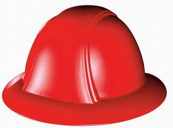 Vulcan Full Brim Hard Hat w/ 6 Point Regular Suspension