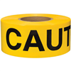 "Barricade Tape, 2 mil, ""Caution"", Yellow, 8/Case"